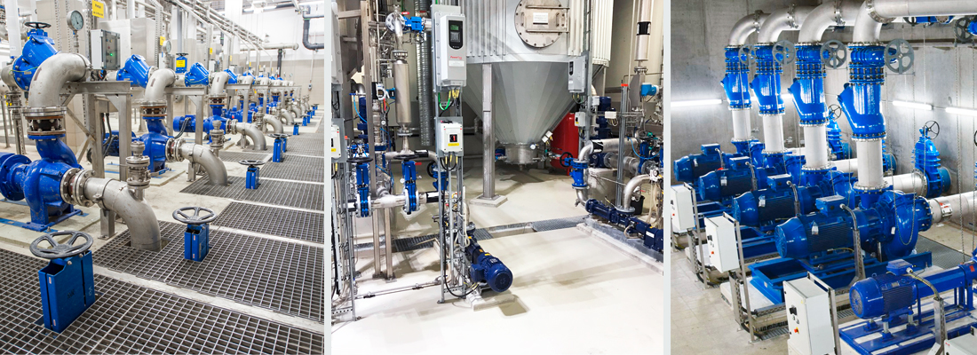 AVK ball check valves installed in wastewater treatment plants