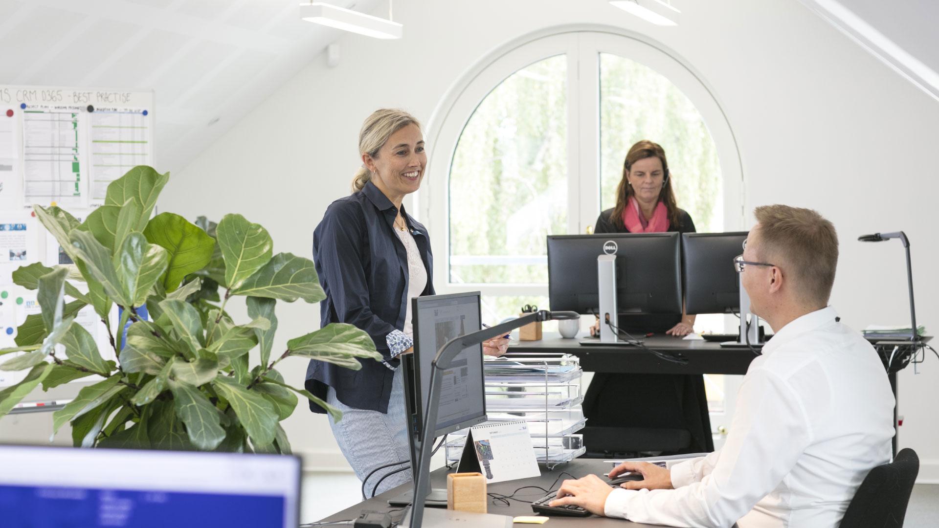 Office environment at AVK in Denmark