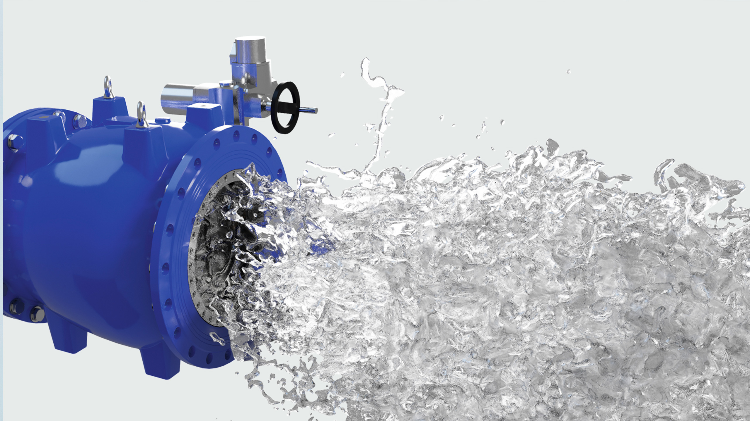 Flow through AVK needle valve also called plunger valve