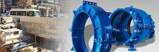 Encapsulation collars for repair of pipe socket and walls in Beirut