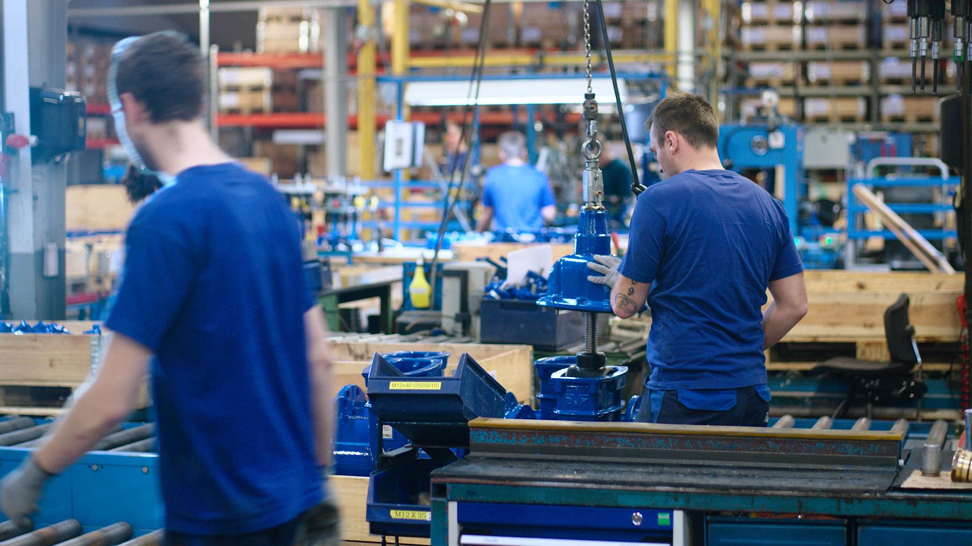 Inside the factory at AVK International