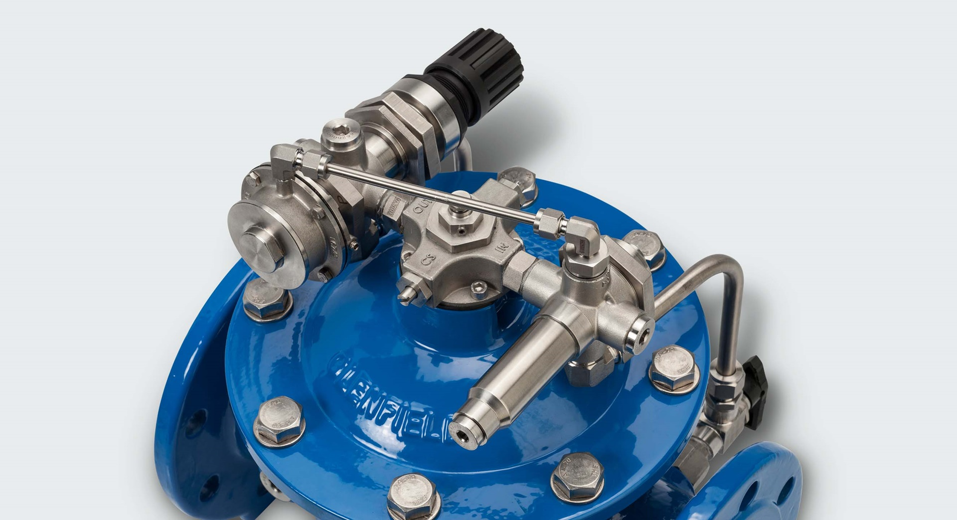 Flexible patented pilot system for AVK control valves