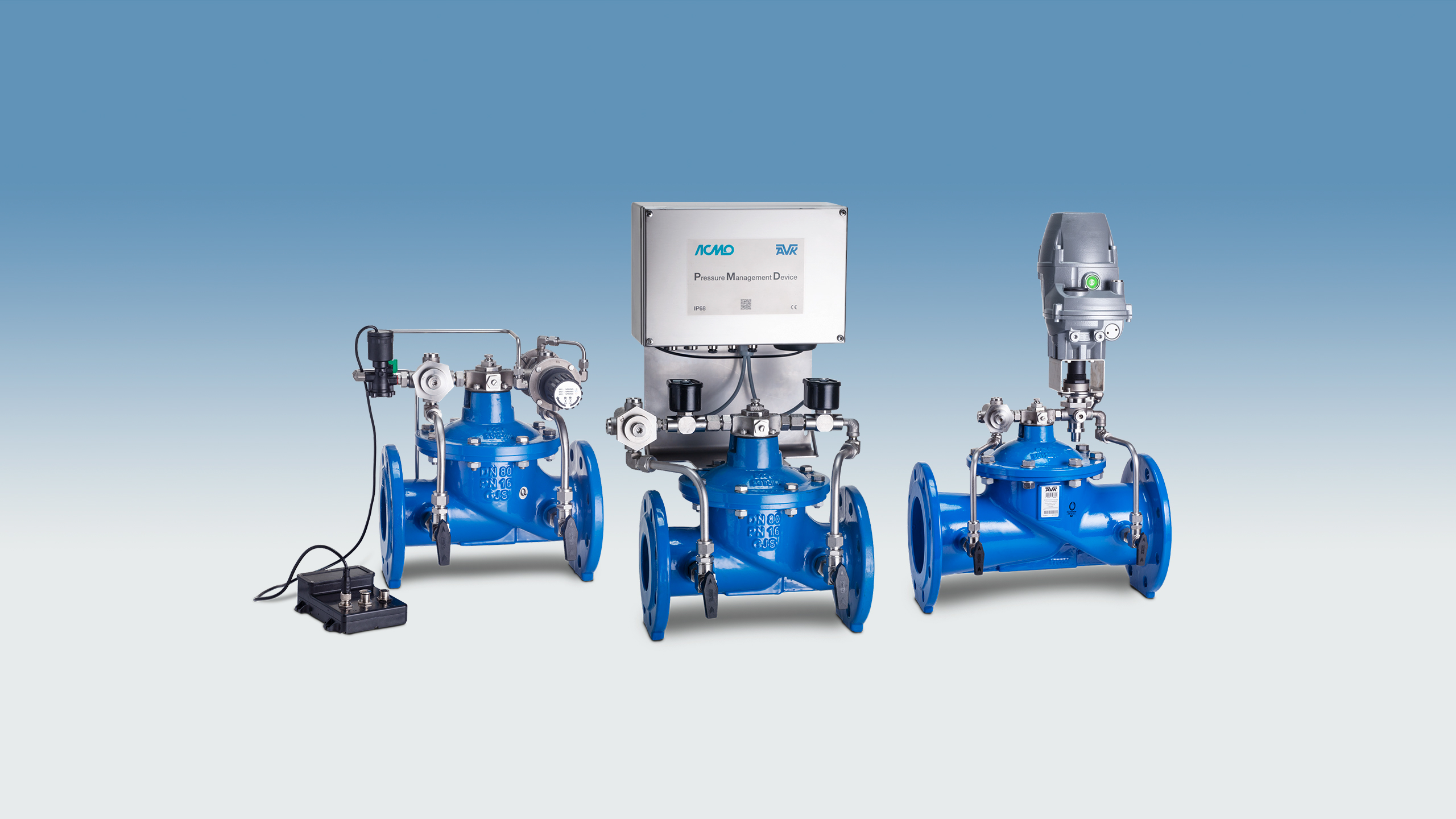 AVK Control valve variants and configurations