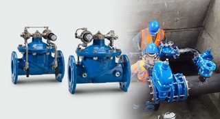 AVK control valves maintain a certain pressure, flow or level, regardless of changes in the supply network