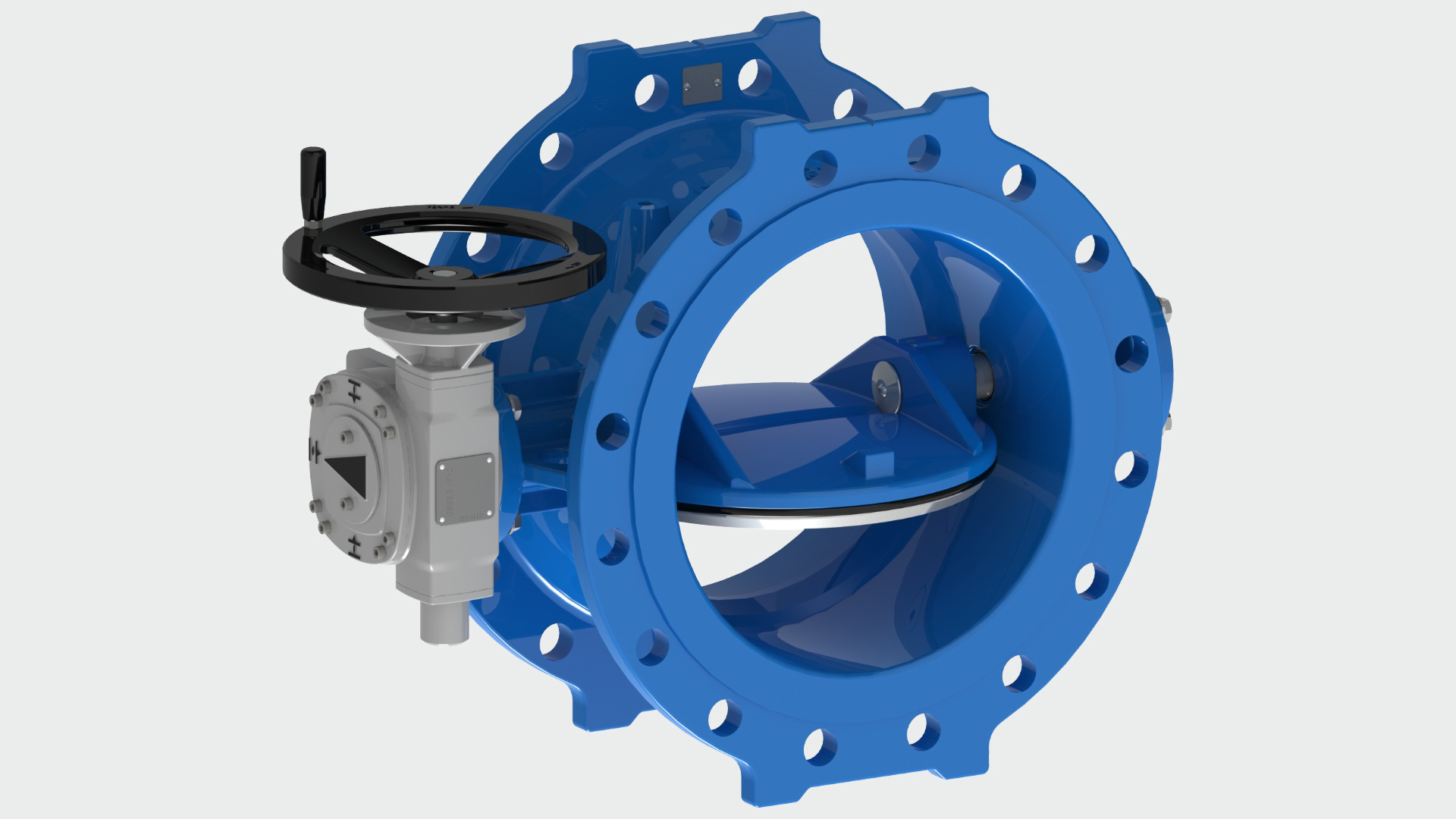 Product photo of double eccentric butterfly valve series 756