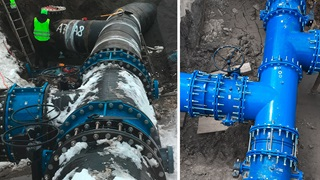 Installation of butterfly valves in Sweden