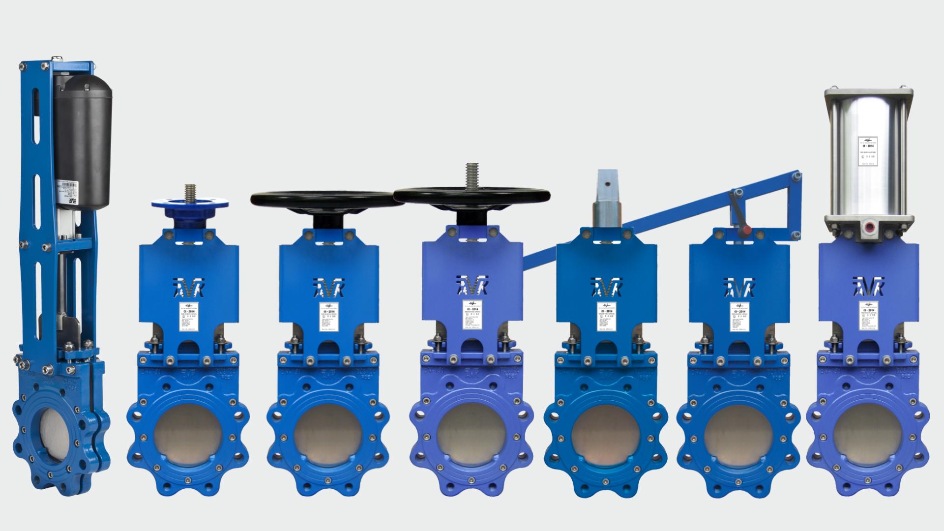 Selection of the range of AVK knife gate valves