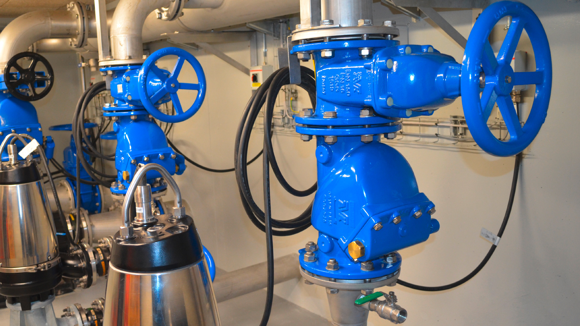Swing check valves installed in Ebeltoft