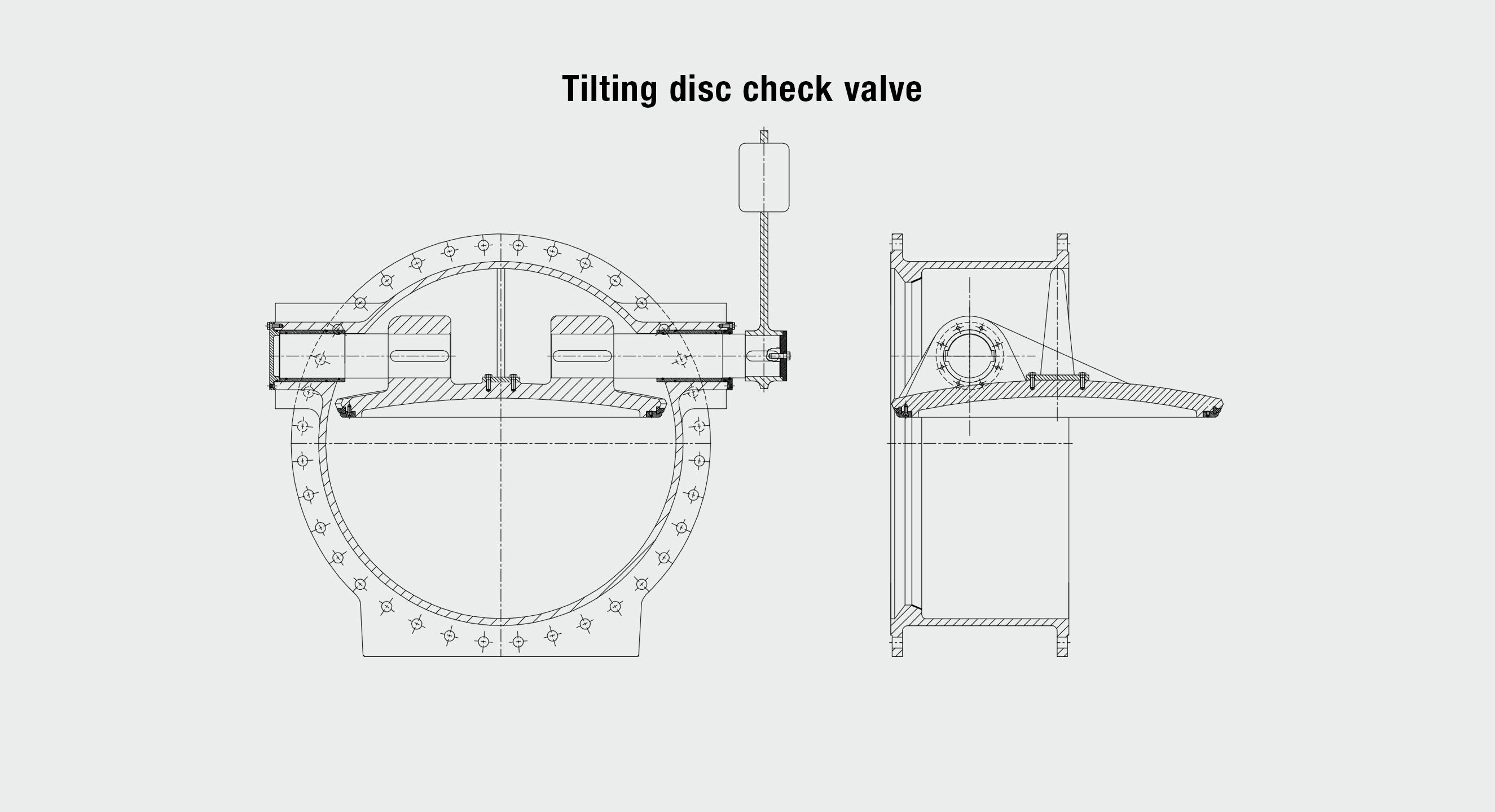 AVK tilting disc check valve drawings