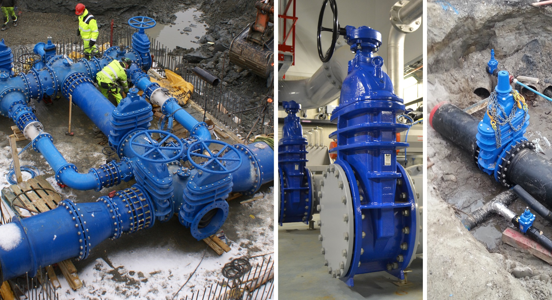 Installation images of gate valves