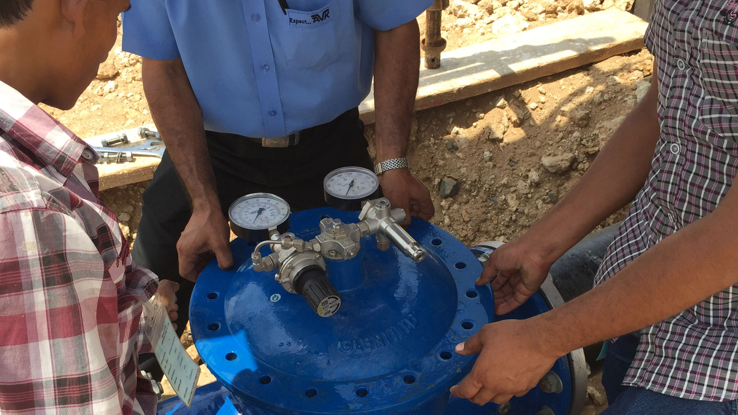Installation of control valve
