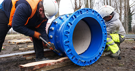 First Supa Maxi™ DN600 being installed in Belgium