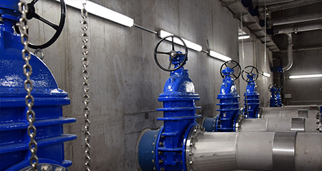 AVK products at wastewater pumping station Sint-Kruis in Brugge, Belgium