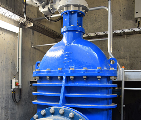 AVK gate valve DN800 at wastewater pumping station in Belgium