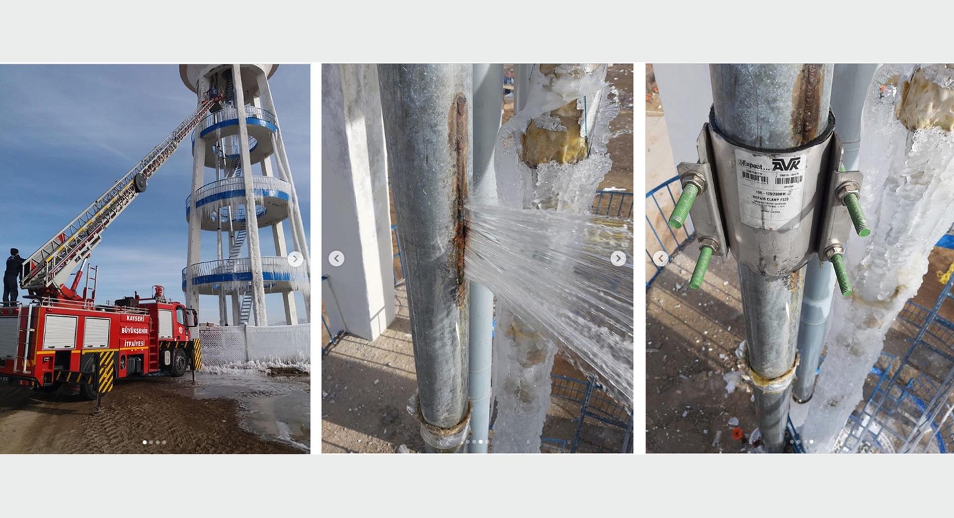 AVK repair clamp installed at Turkish water authority