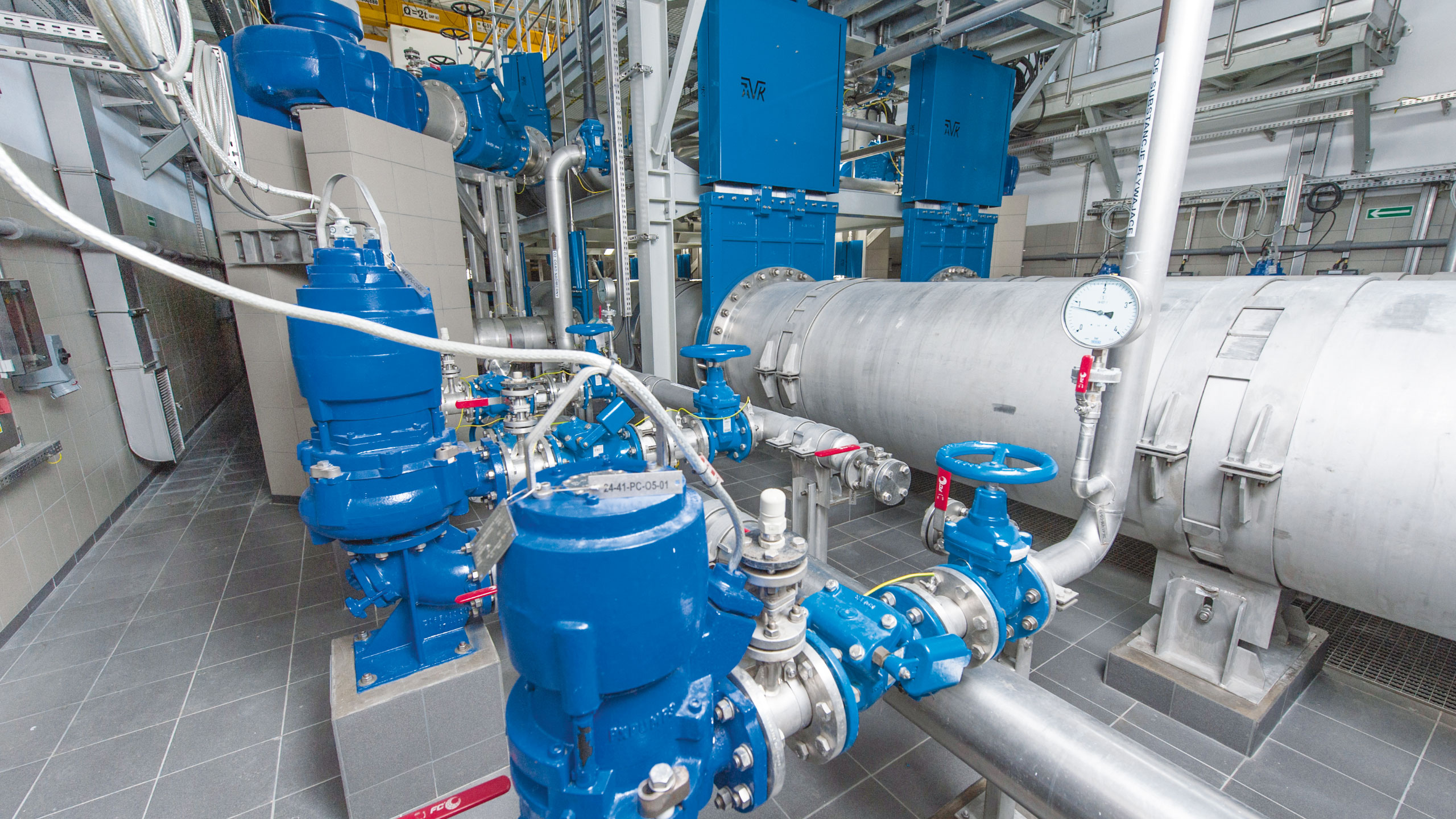 Knife gate valves from AVK installed at Czajka wastewater treatment plant
