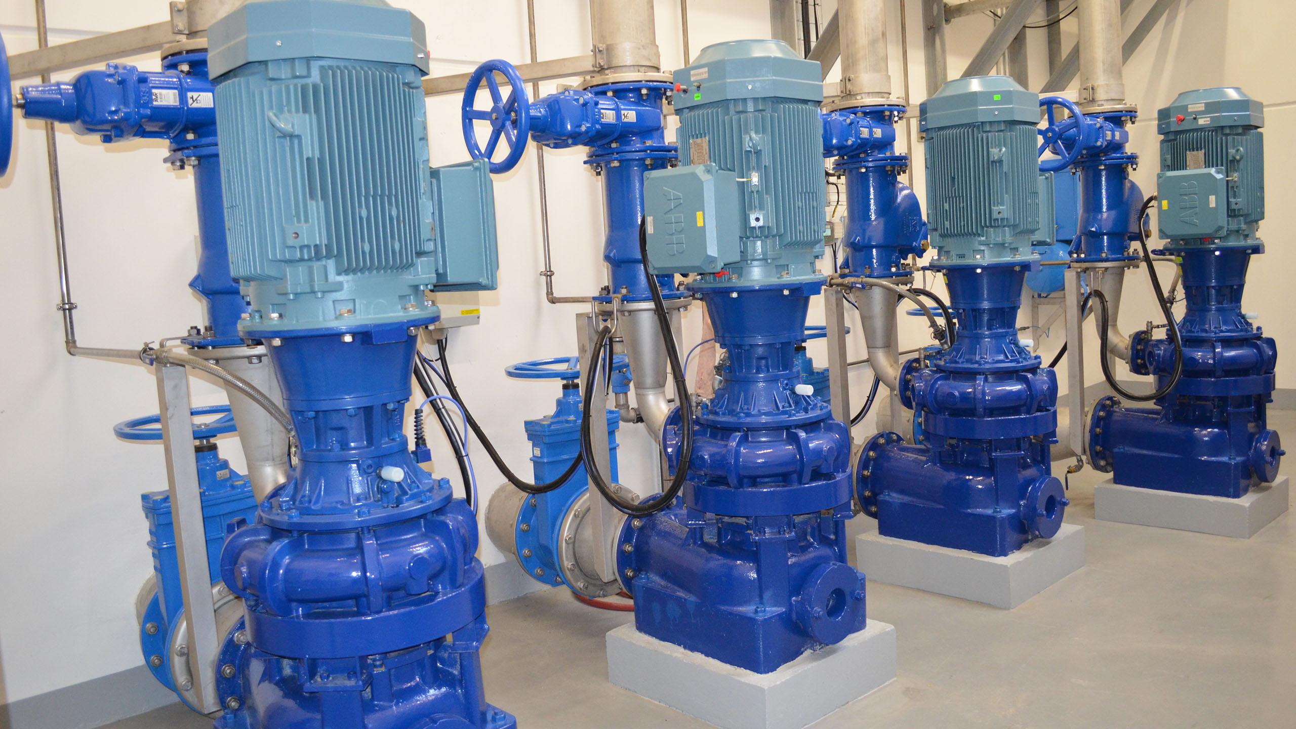 AVK valves installed in a 2014 renovation at Ebeltoft pumping stations