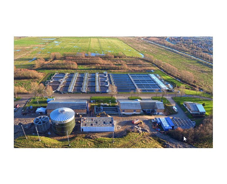Esgaa wastewater treatment plant seen from above