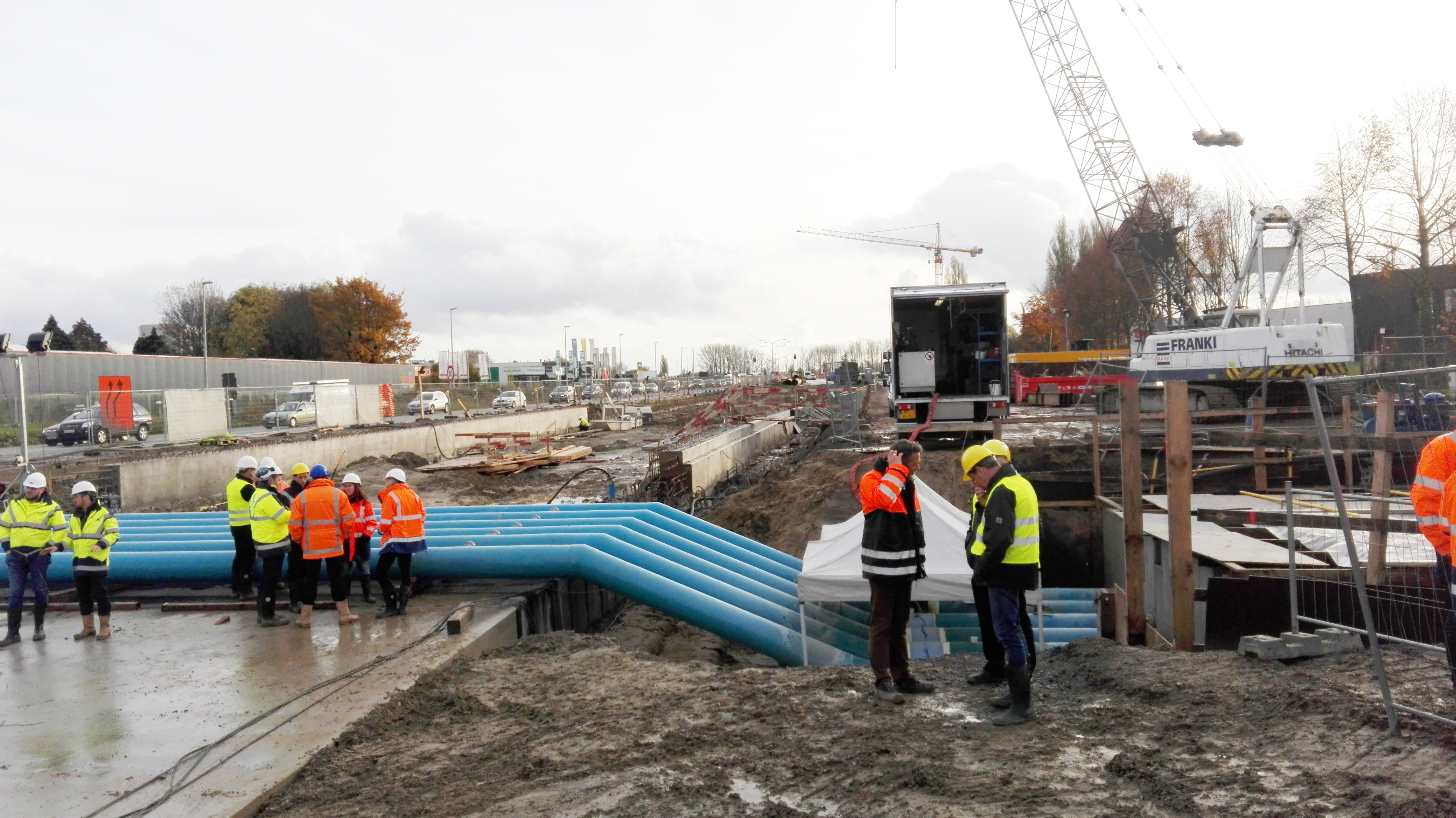 AVK products installed in main water pipe line in Aalst Belgium