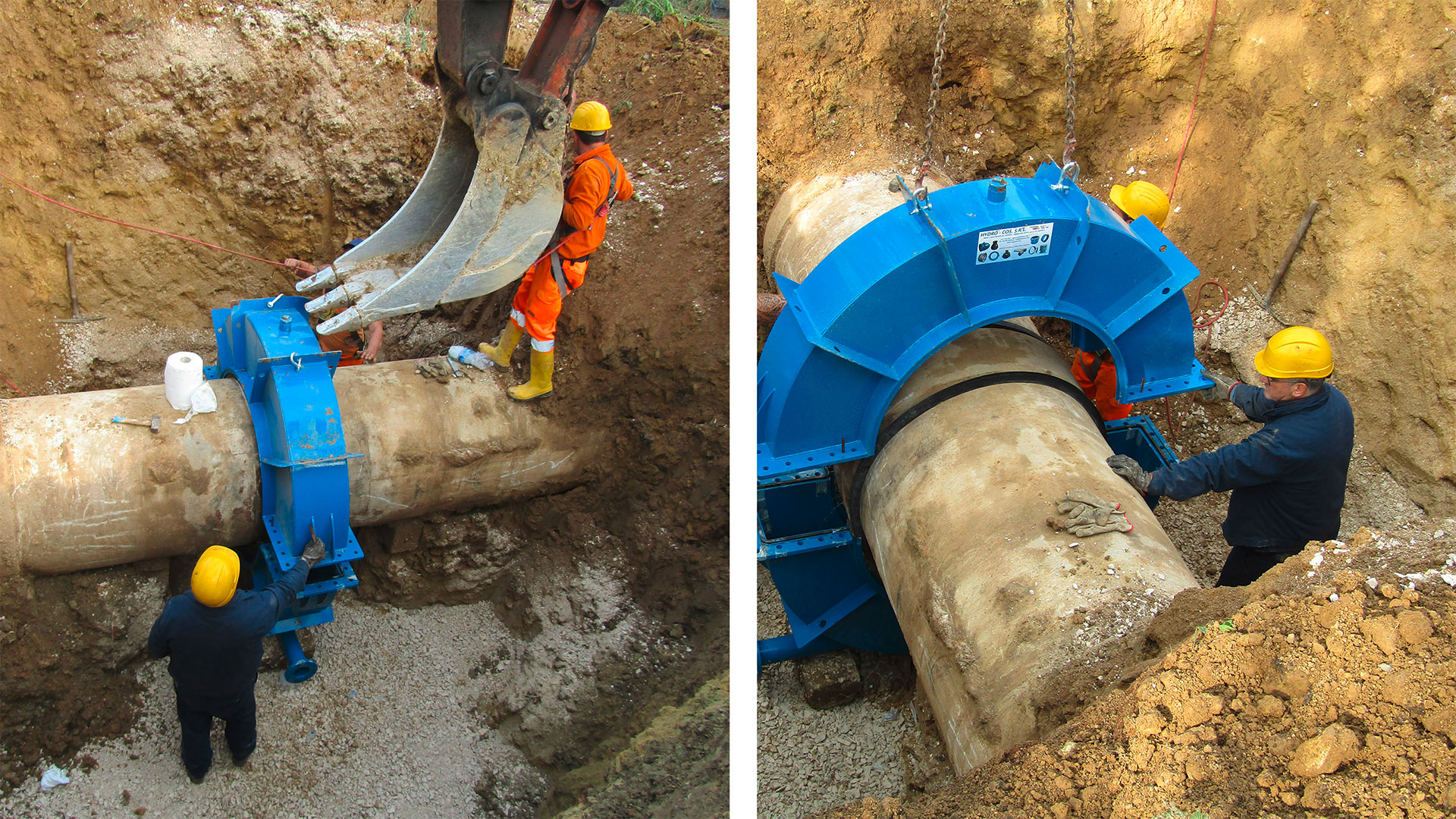 Repair of socket joint and its basement on DN900 water pipeline