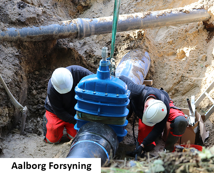 AVK gate valves series 36 installed by Aalborg forsyning in Denmark