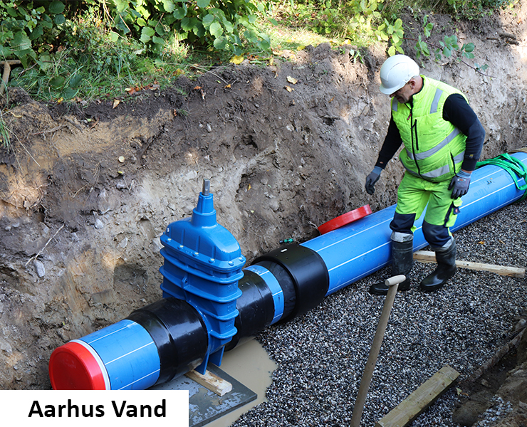 Series 36 AVK gate valve in new big dimensions installed by Aarhus Vand