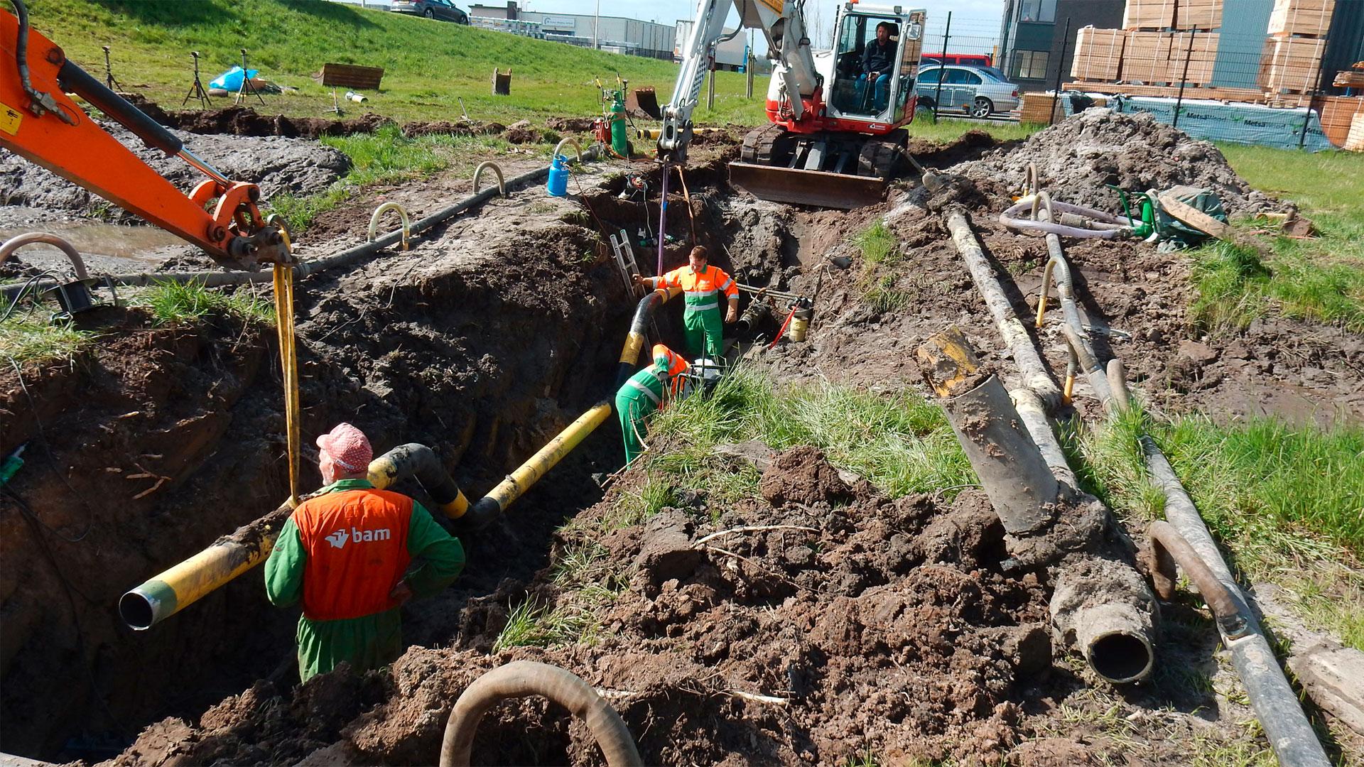 Gas valve installation in Kampen