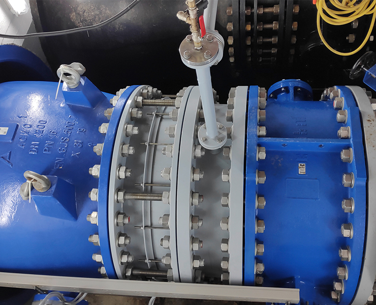AVK needle valve and butterfly valve for installation at dam base drainage