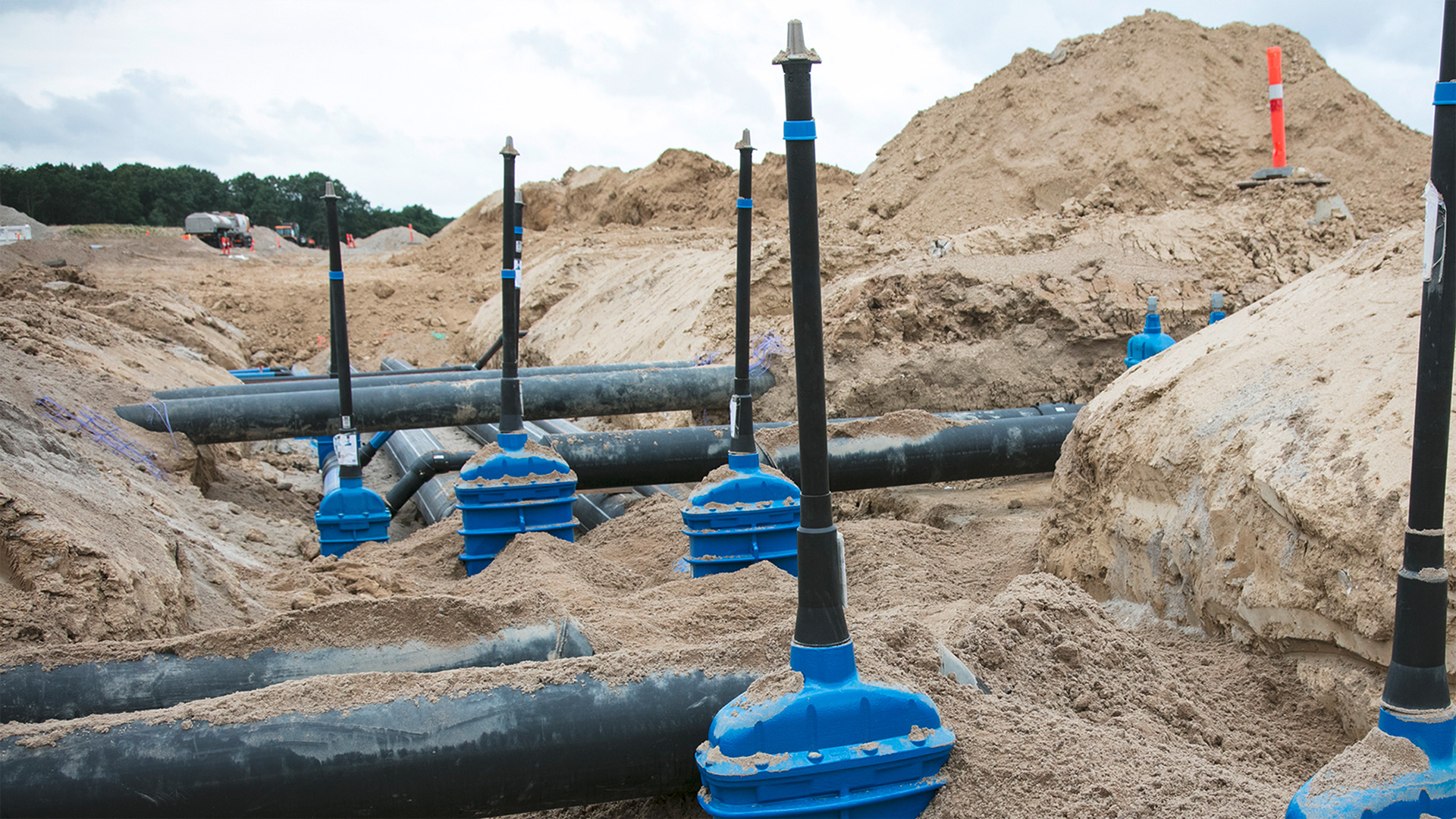 AVK gate valves with extension spindles