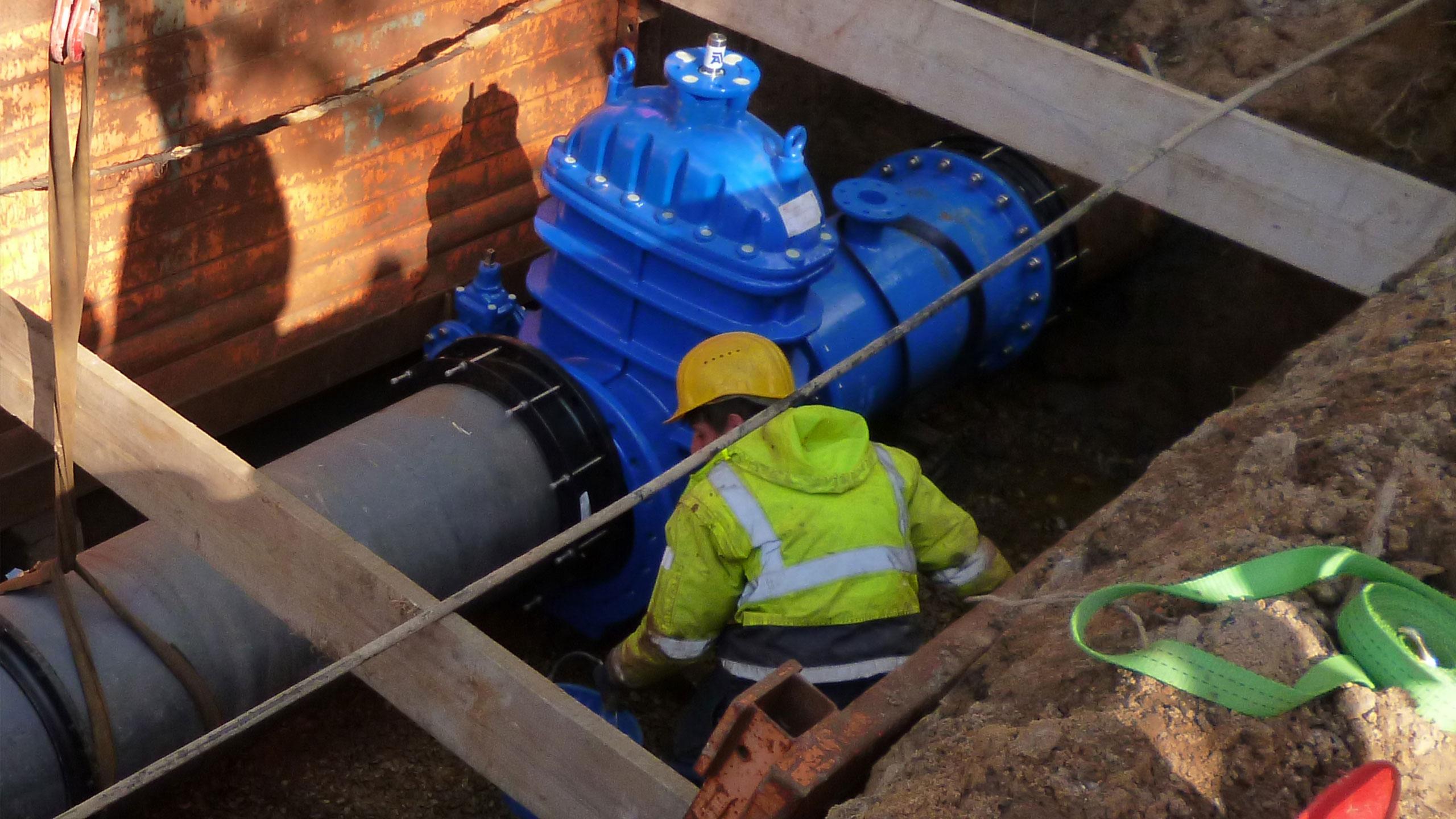 Free flow hydrant case in Stadtwerke Herford