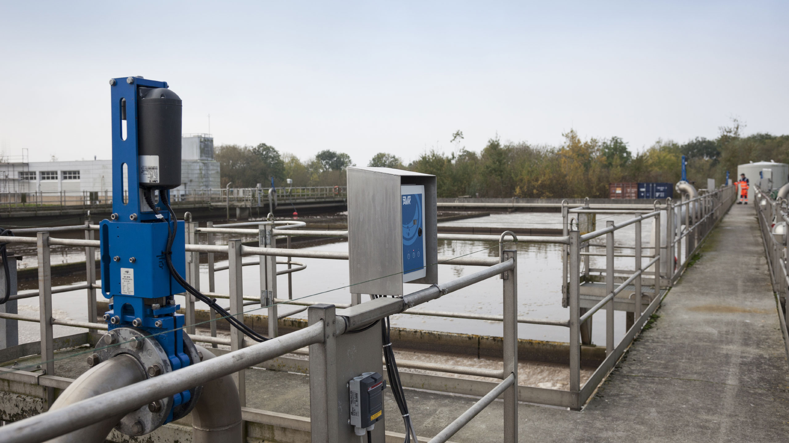 Reduceing energy consumption with knife gate valves in Esbjerg