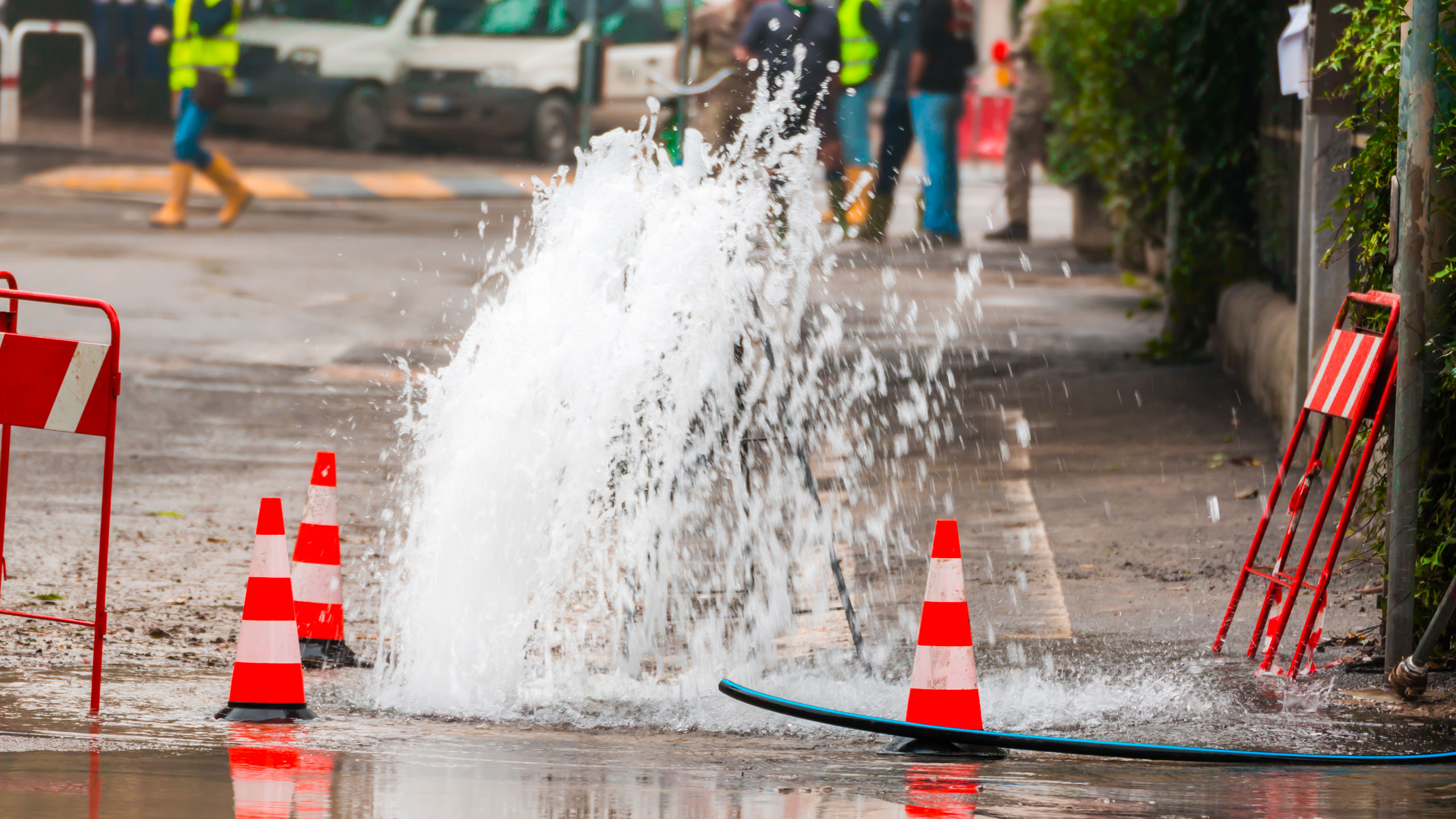 Water leakage in the streets