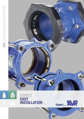 AVK brochure about couplings and adaptors