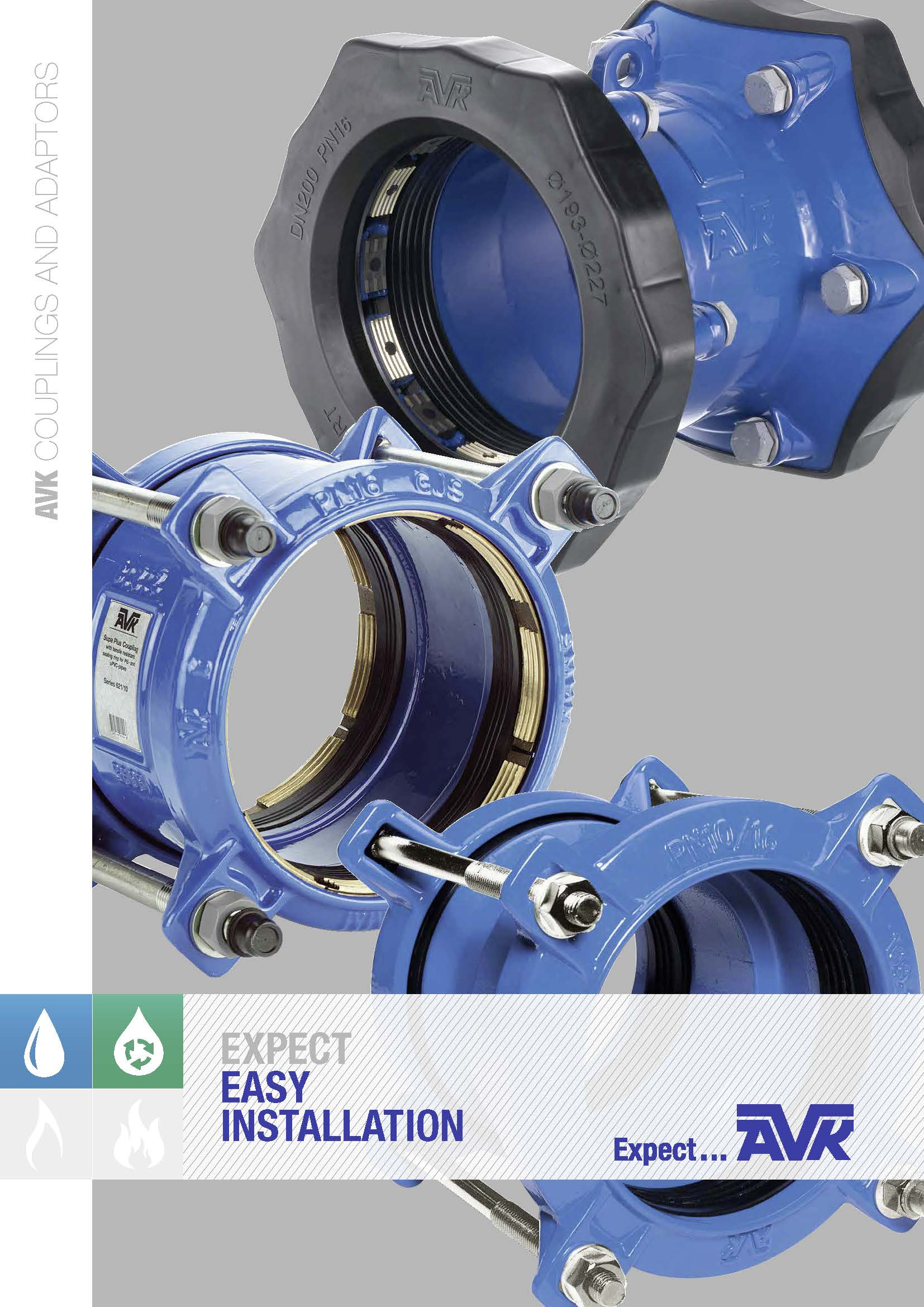 AVK brochure about couplings and adaptors
