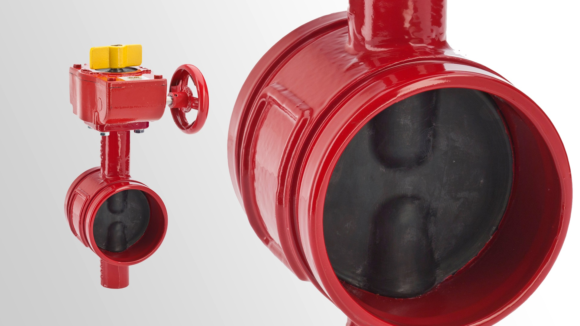AVK butterfly valves with grooved ends for fire protection applications