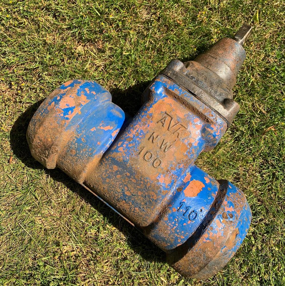 The valve enjoys its retirement back at AVK in Skovby, Denmark