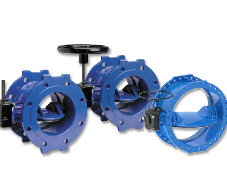 Double eccentric butterfly valves from the AVK serie 756