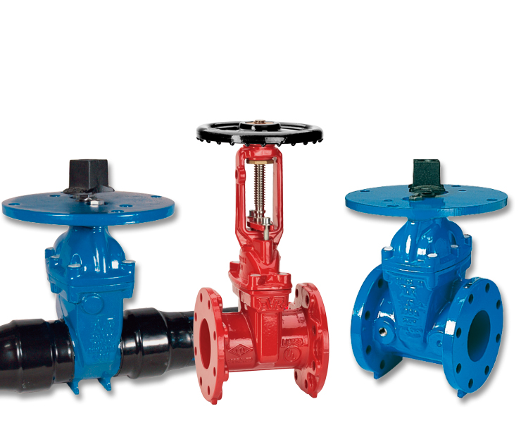 Outdoor gate valves for fire protection
