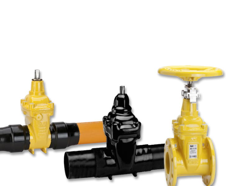 Selection of AVK gas gate valves