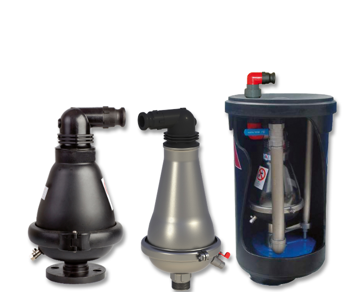 Air valves for wastewater