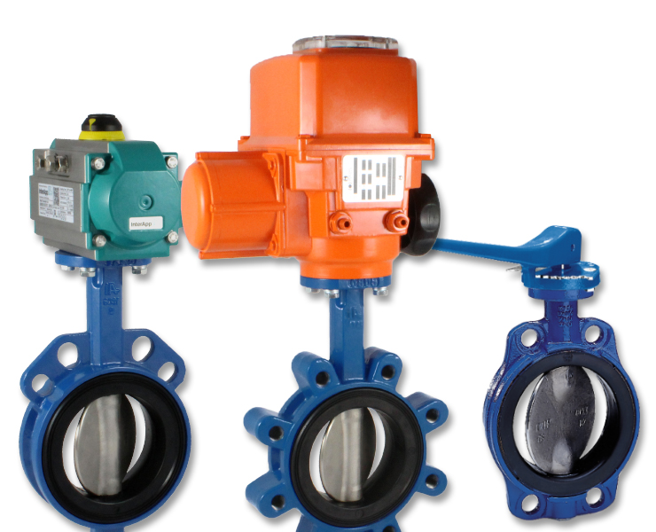Butterfly valves for wasterwater