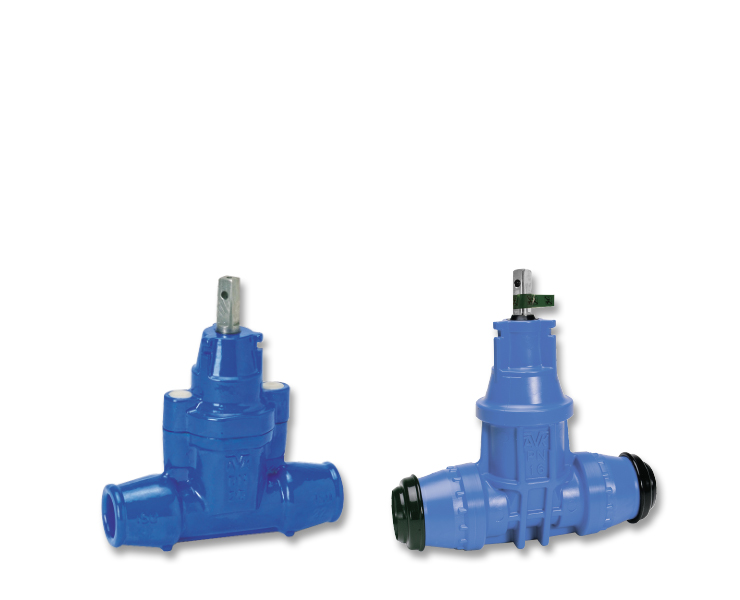 House connection valves for wastewater
