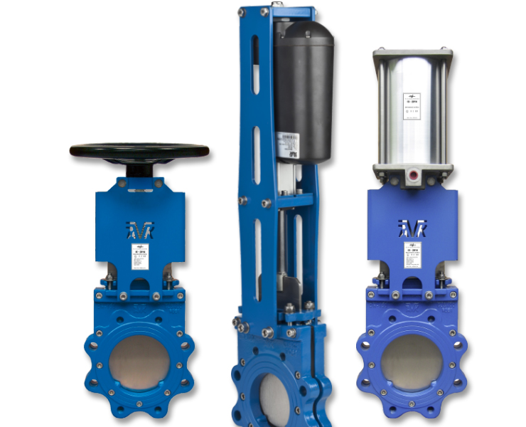 AVK knife gate valves for wastewater