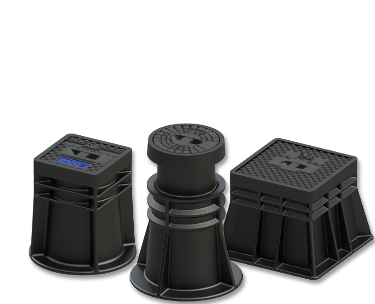 Surface boxes for wastewater