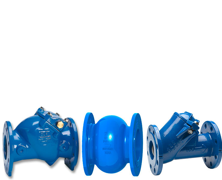 Wastewater check valves with silent check valves
