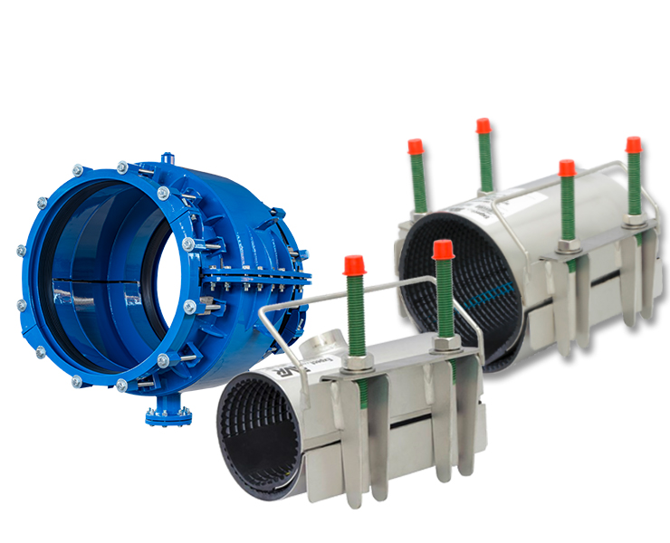 Repair clamps and encapsulation collars product from AVK