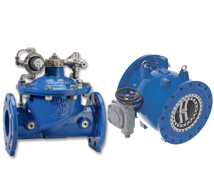Control valves and needle valves for water transmission