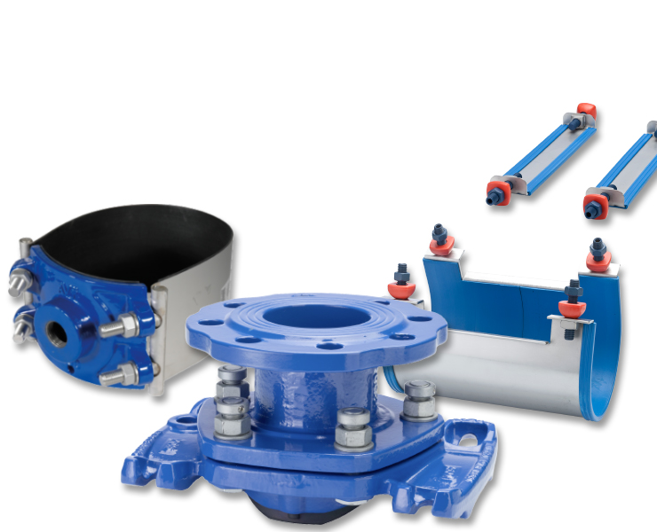 AVK tapping saddles for water plant work
