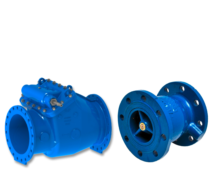 AVK check valves for water transmission with nozzle check valves